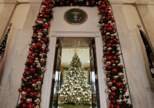 From Orange To Blood Red 80 Years Of White House Christmas Trees