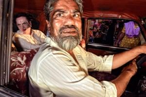 A taxi driver in Mumbai