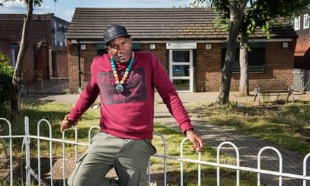 Davis Williams, who runs Manhood Academy in Turnpike Lane, London.
