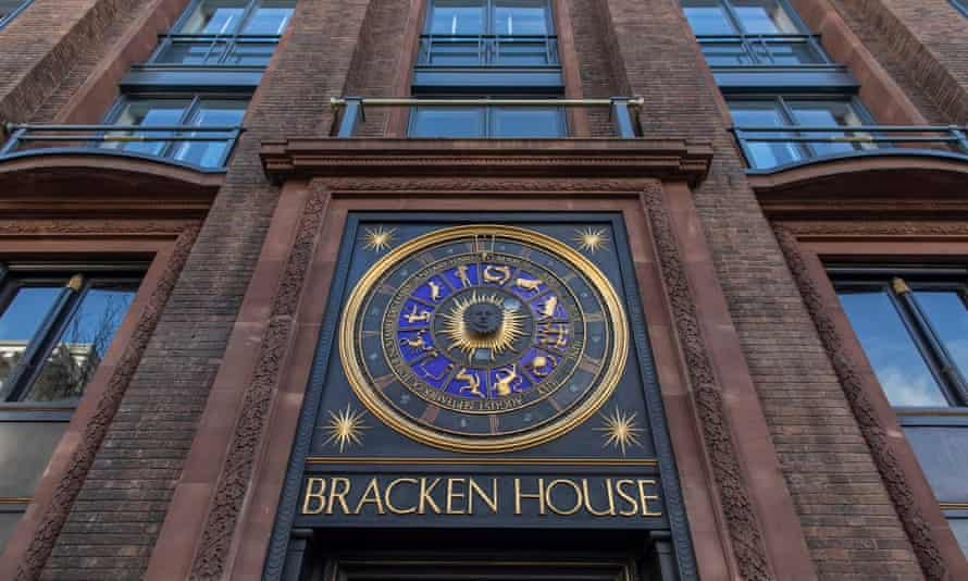 The exterior of the renovated Bracken House