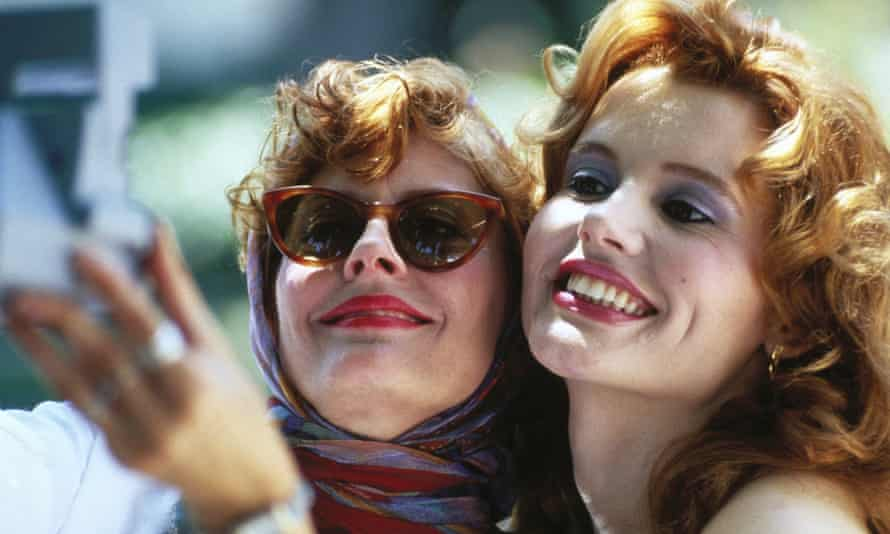 Cultural touchstone … Susan Sarandon and Geena Davis in Thelma and Louise (1991).