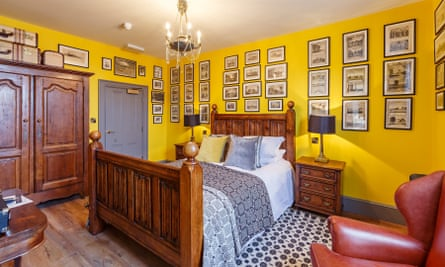 Yellow bedroom, The Dial House, Norfolk