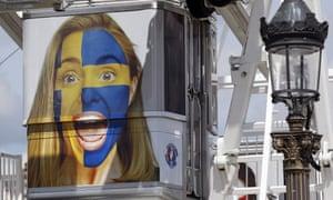 Swedish flag ferris wheel