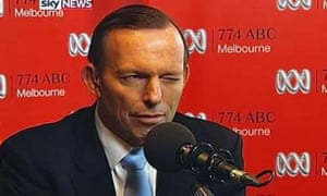 21 May 2014: While out selling his governments unpopular 2014 budget, the PM made an appearance on Melbourne radio. He took a curly question from a grandmother who was concerned about the $7 fee on her visit to the doctors. 'I'm a 67-year-old pensioner with three chronic incurable medical conditions – two life-threatening. I just survive on around $400 a fortnight once I pay my rent and I work on an adult sex line to make ends meet. That's the only way I can do it.' Mr Abbott duly winked on camera at host Jon Faine – and which set social media alight.
