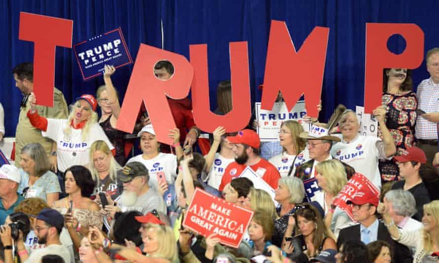 trump supporters cheer