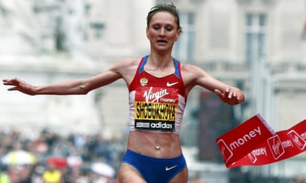 Liliya Shobukhova, pictured winning the London marathon in 2010, is at the centre of corruption and doping allegations that have been examined by an independent commission.