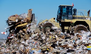 About half of trash generated in the US is unaccounted for.