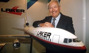 Sir Freddie Laker in 1995.