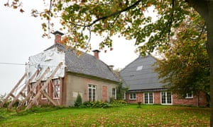 Annemarie Heite's earthquake-damaged family home in Groningen
