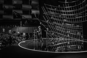 Martin Freeman and Graham Norton on stage