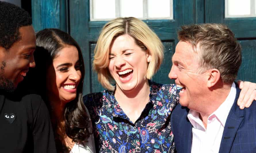 The Doctor Who cast (from L-R: Tosin Cole, Mandip Gill, Jodie Whittaker, Bradley Walsh)