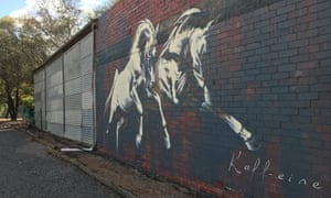 Kaff-eine's mural in Beulah, Silo Art Trail, Australia