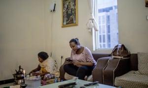 Inside a condominium apartment in Lideta, Addis Ababa.