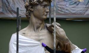 A cast of Michelangelo's David