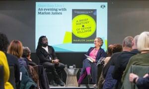 Guardian Live. An evening with Marlon James. 28/11/15 For Guardian Membership