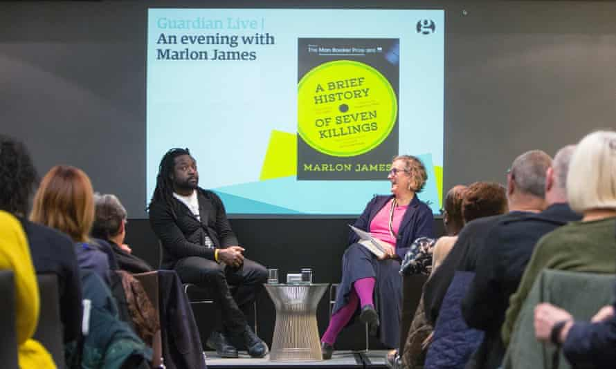 Guardian Live. An evening with Marlon James. 28/11/15 For Guardian Membership