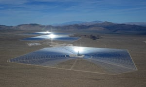 The Ivanpah solar electric generating system in the Mojave Desert, California