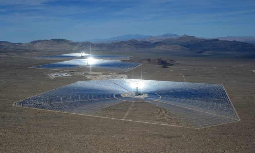 The Ivanpah solar electric generating system in the Mojave Desert in California. Residents in Port Augusta in South Australia are pushing for a similar plant in their region.