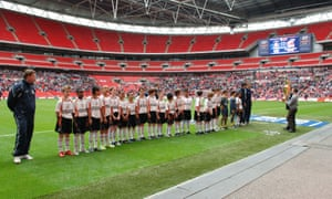 The Luton Under-11s at Wembley in April 2009, having been invited after being crowned European champions at a tournament in Switzerland.