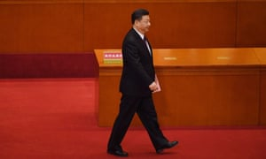 Xi Jinping prepares to vote in the Great Hall of the People in Beijing