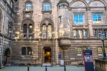 Old Medical School of the University of Edinburgh in Edinburgh.