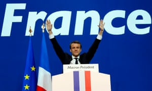 Macron celebrates victory