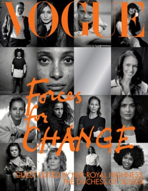 The cover of British Vogue's September 2019 issue, guest-edited by Meghan, Duchess of Sussex
