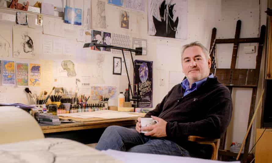 Illustrator and political cartoonist Chris Riddell
