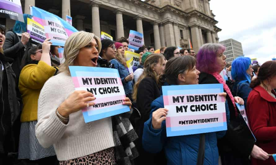 Supporters of the bill to allow transgender and gender diverse people to change their birth certificate rallied this week.