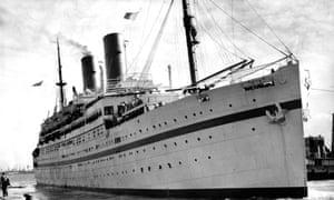The Empire Windrush ship in 1954.