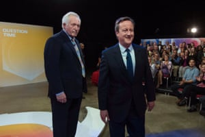 Last night, Prime Minister David Cameron appearing in a special referendum edition of BBC One's Question Time, hosted by David Dimbleby, at the MK Arena in Milton Keynes, Buckinghamshire.