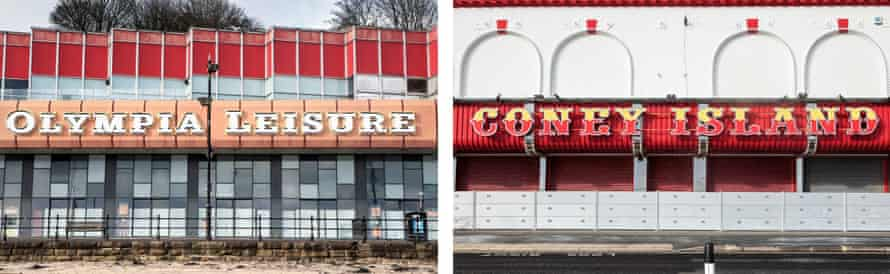 Olympia Leisure and Coney Island amusement arcades in Scarborough.