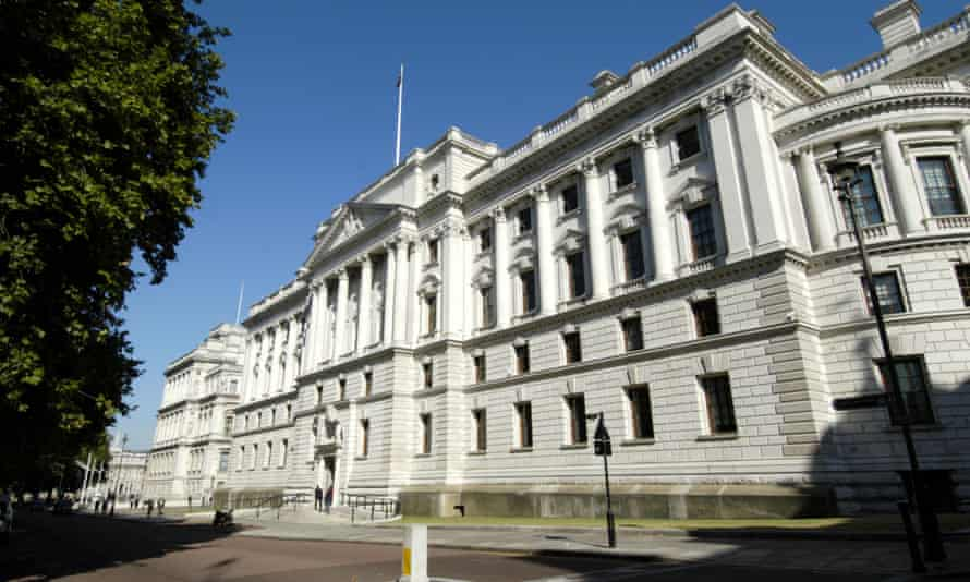 The HM Treasury building.