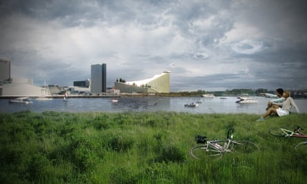 A render of how the Amager Baake incinerator plant will look once completed next year.