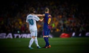 Andrés Iniesta and Luka Modric