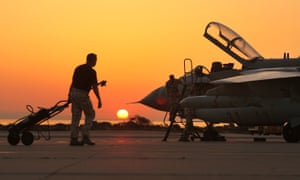 Ground crew works on a RAF Tornado fighter jet at RAF Akrotiri, Cyprus. There are fears that the prime minister would be weakened on the world stage by a second parliamentary defeat over military action in Syria.