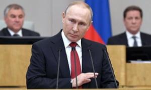 Vladimir Putin addresses parliament in March