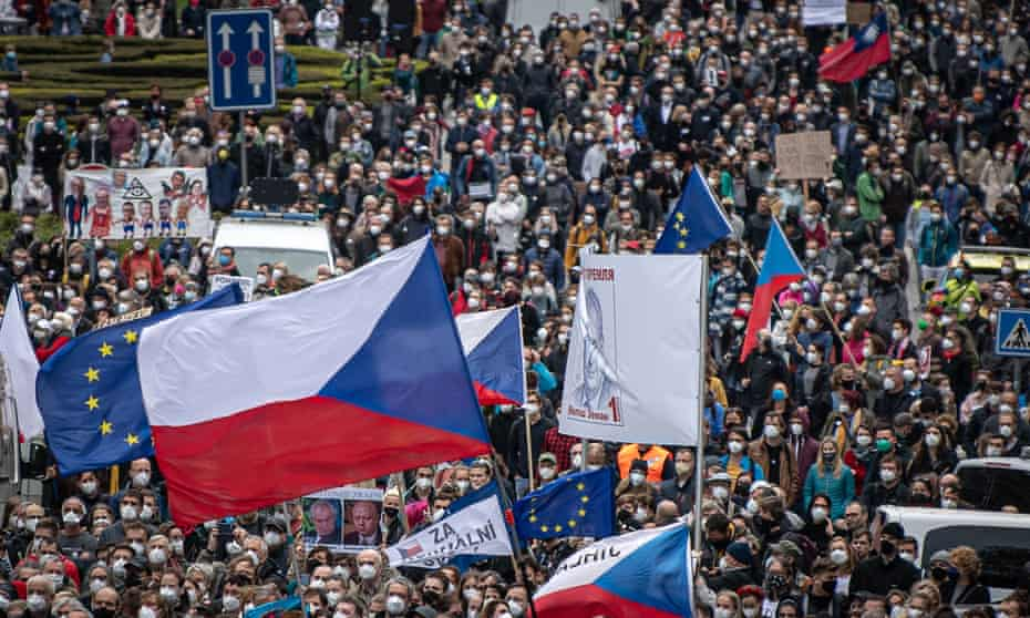 A Million Moments for Democracy Association protest in Prague in April.