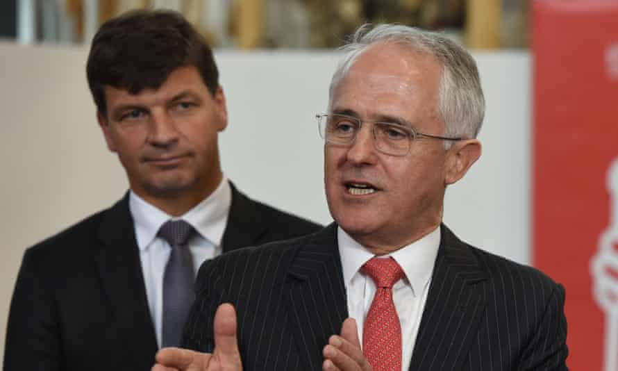 Angus Taylor and Malcolm Turnbull