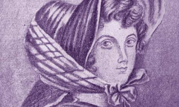 Emily Brontë, from a portrait drawn by her elder sister, Charlotte.