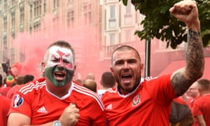 Wales supporters in Lille