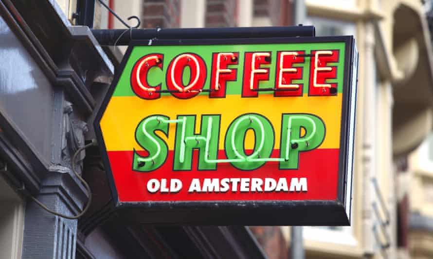Amsterdam coffee shop sign, Holland