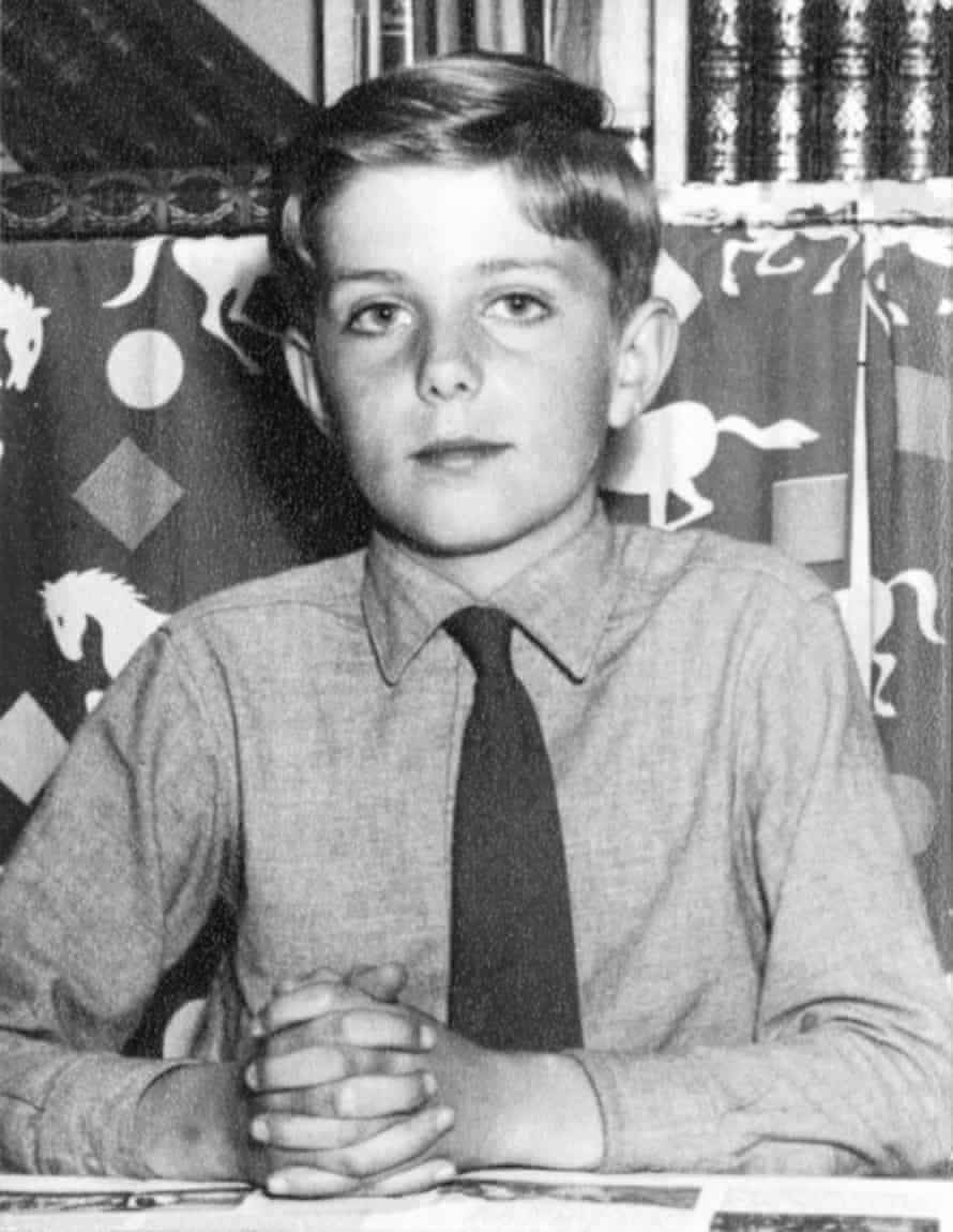 'Peter Drabble', in his final year at primary school.