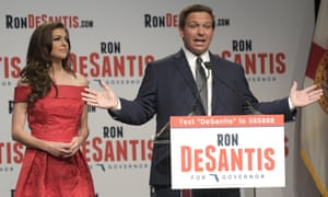 Ron DeSantis with his wife, Casey.