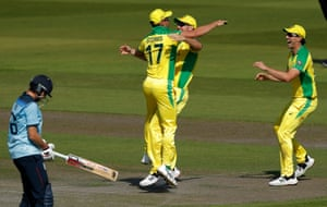 Stoinis celebrates after running out Roy.