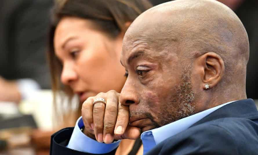 Dewayne Johnson listens during the Monsanto trial in San Francisco last month.