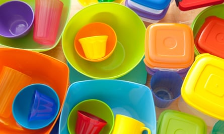 Tupperware and other plastic kitchen tubs