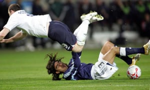 Argentina's Juan Pablo Sorín, pictured tackling Wayne Rooney, has been in touch with the project to ask how he could help.