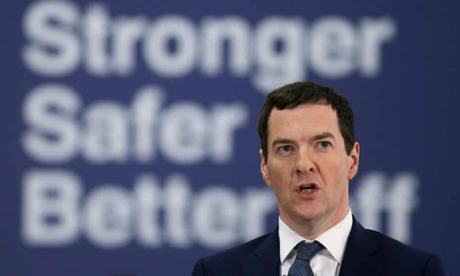 George Osborne in front of a remain poster