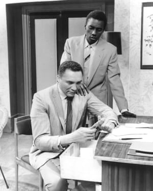 Johnny Sekka (standing) and William Marshall in The Big Pride, 1961.